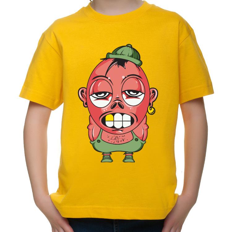 T-shirt dziecięcy z mocno wyluzowanym gościem