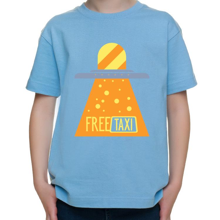 T-shirt dziecięcy z UFO robiącym za taxi