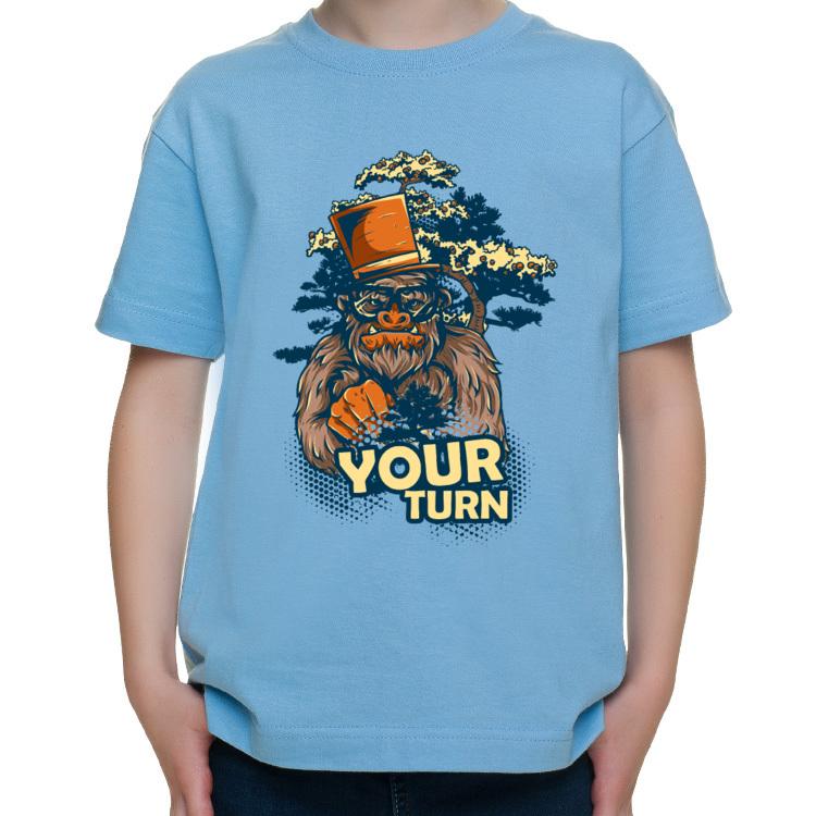 T-shirt dziecięcy z gorylem hipsterem