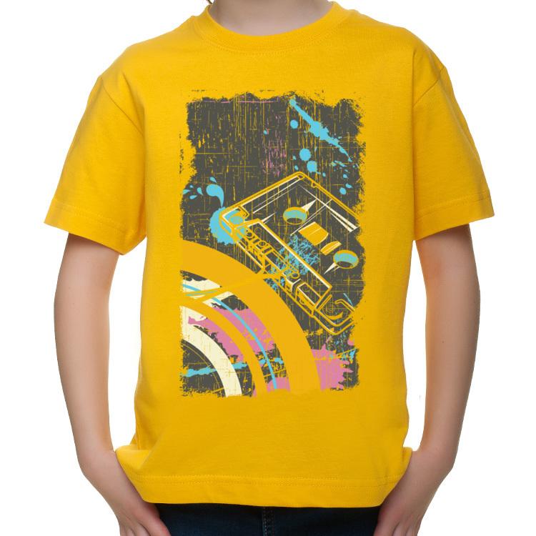 Dziecięca koszulka z kasetą magnetofonową
