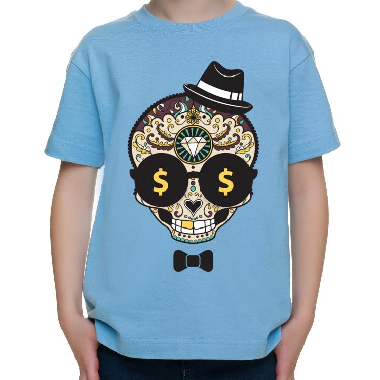Dziecięca koszulka z cukierkową czaszką