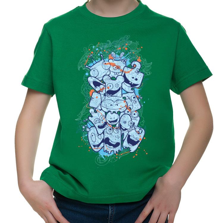Dziecięca koszulka z potworkami