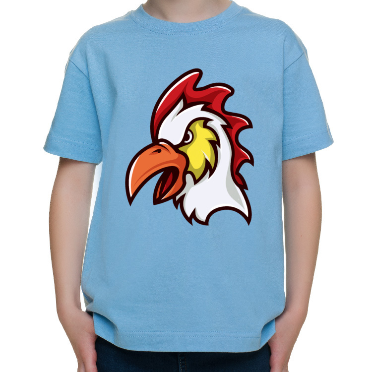 Dziecięca koszulka z szalonym kogutem