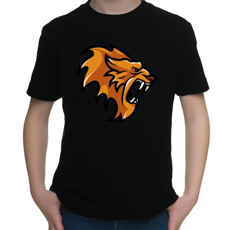 Koszulka dziecięca z agresywnym lwem