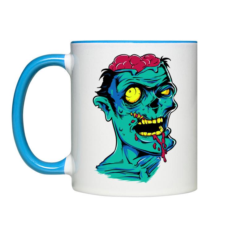 Kubek z wygłodniałym zombiakiem