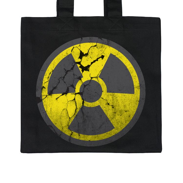 Torba z symbolem skażenia radioaktywnego